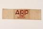 White armband printed ARP Chief-Warden