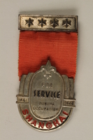 2000.24.20.1 front Boy Scout service medal awarded to Shanghai troop leader  Click to enlarge