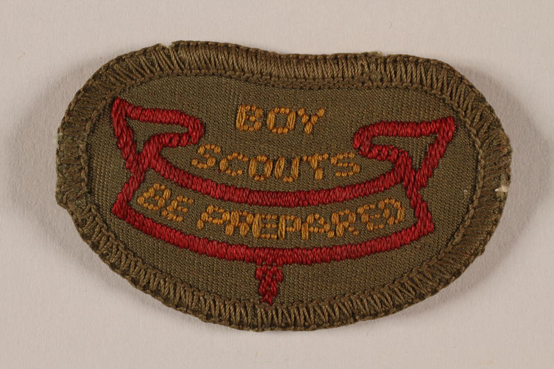 2000.24.8 front 2nd Class Boy Scout badge issued to Jewish refugee in Shanghai
