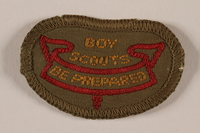 2000.24.8 front 2nd Class Boy Scout badge issued to Jewish refugee in Shanghai  Click to enlarge