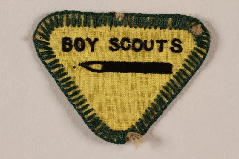 2000.24.9 front Boy Scout badge issued to Jewish refugee in Shanghai