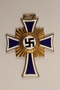 Cross of Honor of the German Mother medal, with ribbon, 1st Class Order, Gold Cross