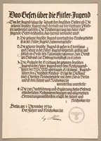 2000.384.1 front Das Gesetz uber die Hitler-Jugend  Click to enlarge