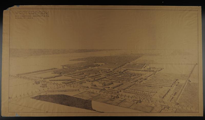 2000.395.1 front Large diazo print of Westerbork transit camp