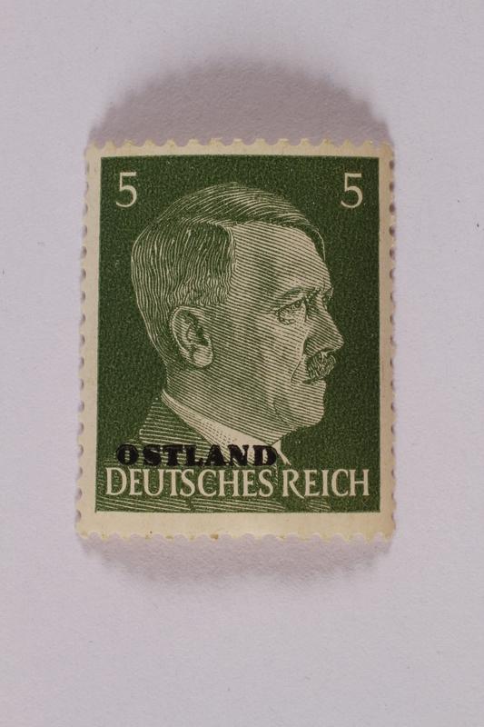 2000.427.1 front Adolf Hitler postage stamp