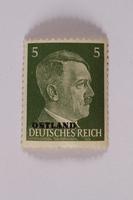 2000.427.1 front Adolf Hitler postage stamp  Click to enlarge