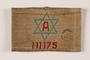 Handmade Jewish worker armband with a blue Star of David