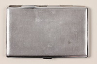 2001.236.1 back Cigarette case engraved with Camp Buchenwald  Click to enlarge