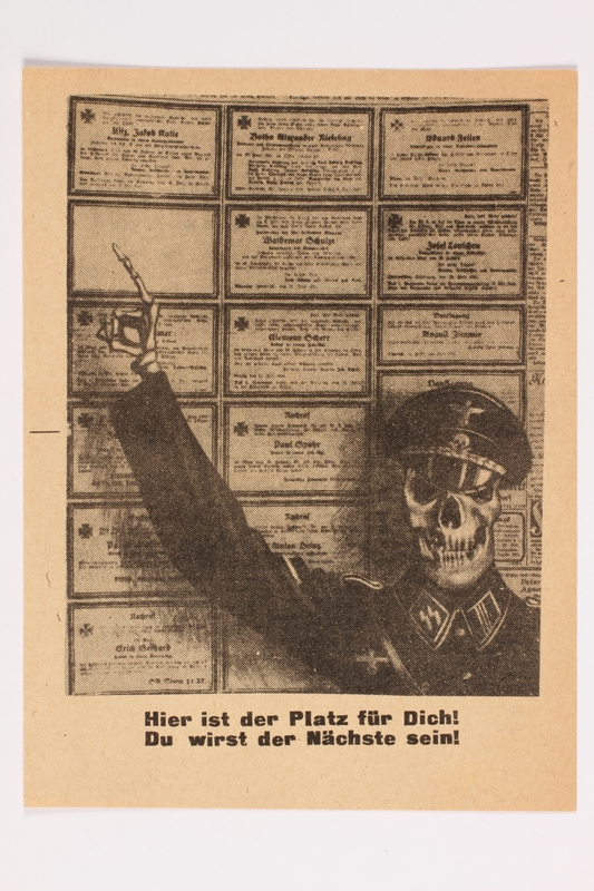 2001.254.8 front Russian army propaganda leaflet