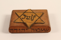 2001.299.1 other Hand carved cigarette case stamped with a Star of David  Click to enlarge