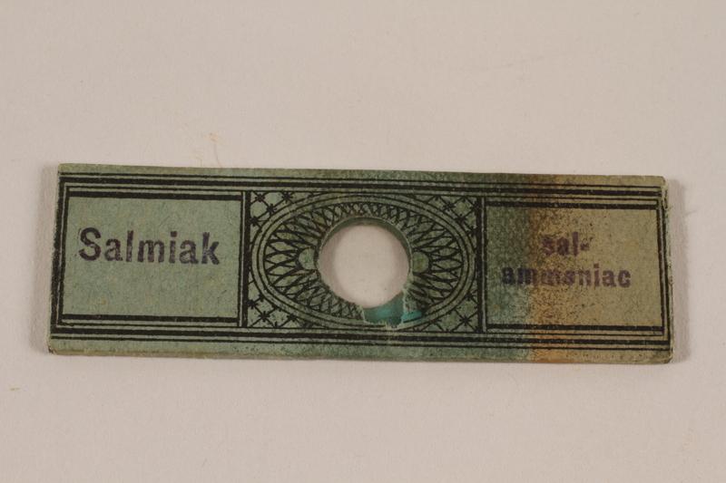2001.39.1.4 front Microscope slide