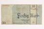 Łódź (Litzmannstadt) ghetto scrip, 50 mark note
