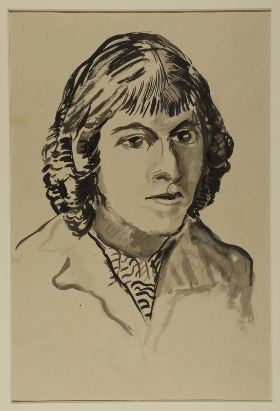 1988.1.79 front Self-portrait by a German Jewish internee