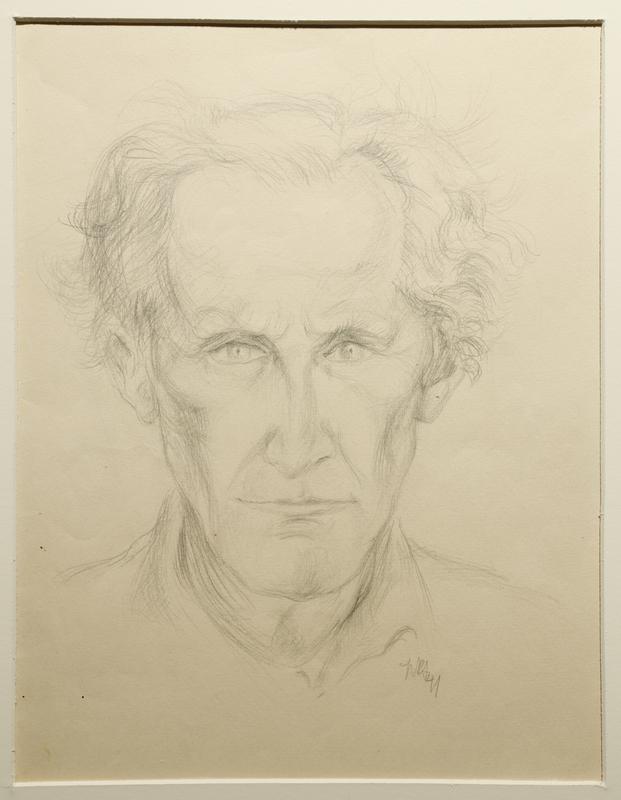 1988.1.81 front Portrait of an older man by a German Jewish internee