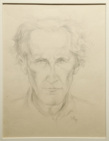 1988.1.81 front Portrait of an older man by a German Jewish internee  Click to enlarge