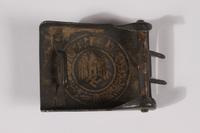 2014.480.53 back German Wehrmacht belt buckle  Click to enlarge
