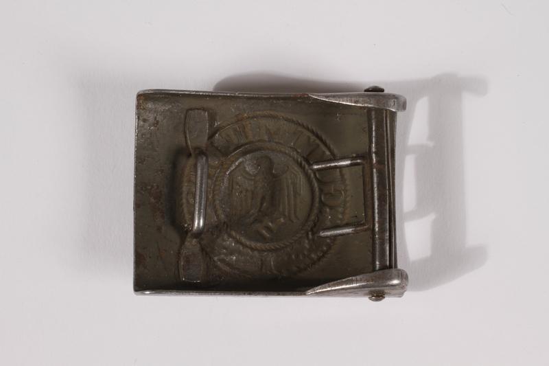 2014.480.57 back German Wehrmacht belt buckle
