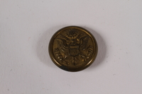2014.480.69 front American uniform button  Click to enlarge