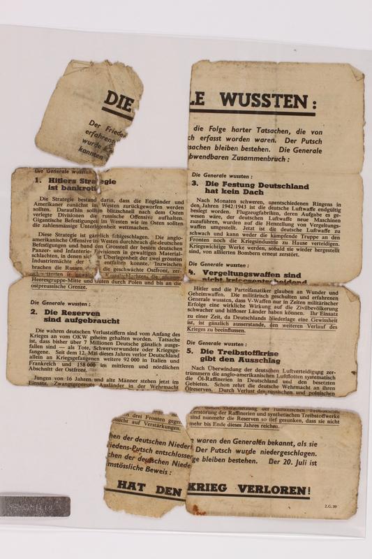 2014.480.78 back Psychological warfare leaflet in German