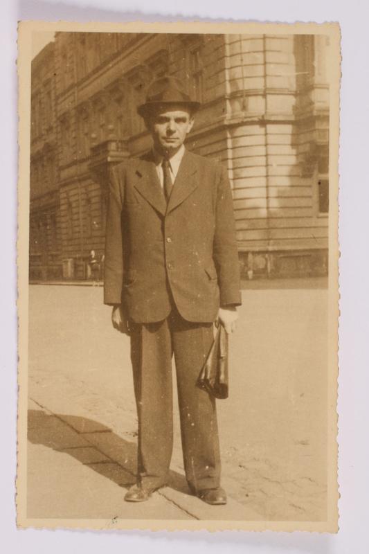 2014.480.20 front Photograph of a man, Plzen