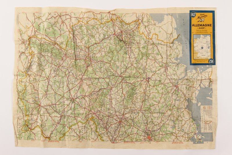 2014.480.132 front Map of Western Germany, in French.