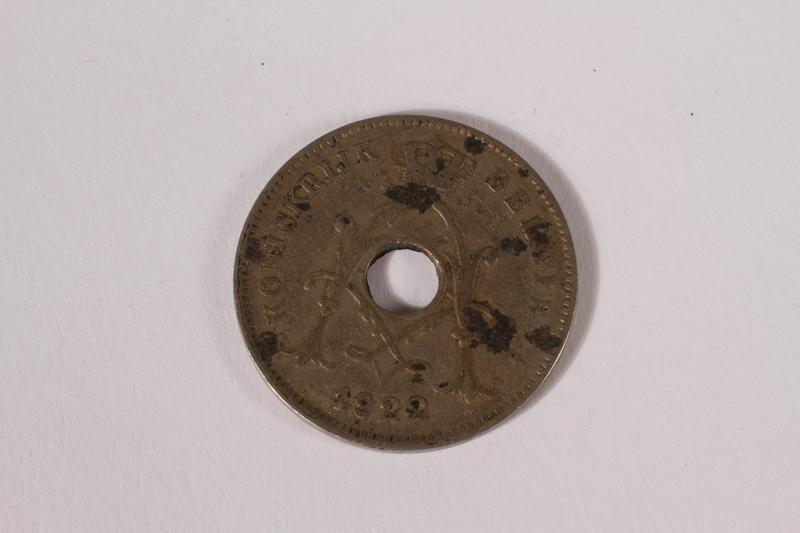 2014.480.7 front Belgium, ten centime coin