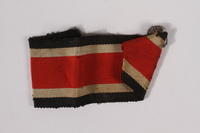 2014.480.9 b front German Iron Cross ribbon with pin acquired by an American soldier  Click to enlarge