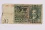 German ten Reichsmark Reischsbanknote