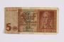 German five Reichsmark Reichsbanknote