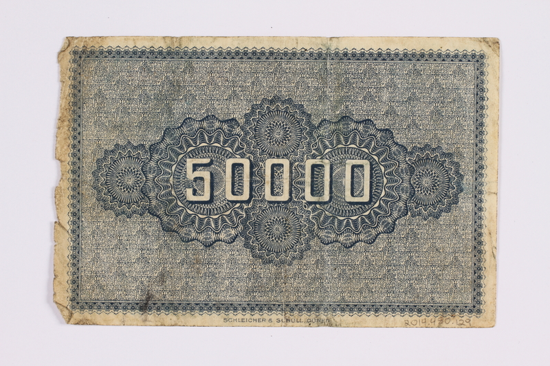 2014.480.129 back German 50000 mark scrip