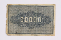 2014.480.129 back German 50000 mark scrip  Click to enlarge