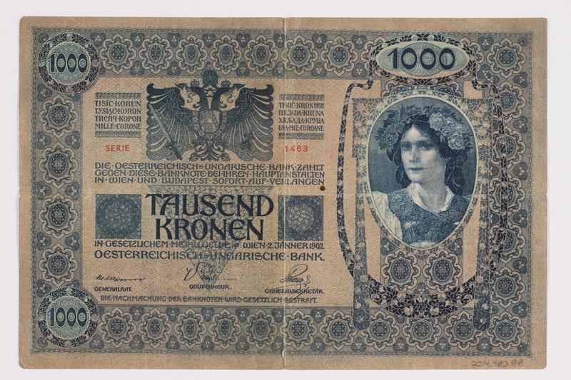 2014.480.88 back 1000 Kronen scrip