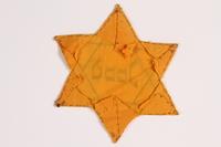 2012.487.2 back Star of David badge  Click to enlarge