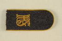 1985.1.9 front Luftwaffe KRS shoulder board with gold piping acquired by US soldier  Click to enlarge