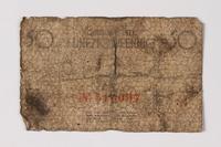 1987.90.59 back Łódź (Litzmannstadt) ghetto scrip, 50 pfennig note  Click to enlarge