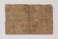 1987.90.65 back Łódź (Litzmannstadt) ghetto scrip, 50 pfennig note  Click to enlarge