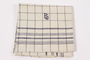 Black checked towel embroidered ES saved by German Jewish refugees
