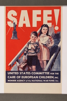 2015.258.1 front Poster of 2 children arriving in the US  Click to enlarge