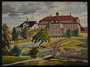 Painting of a large estate given to an UNRRA official