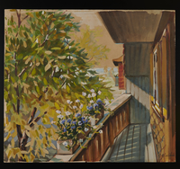 2015.110.10 front Watercolor painting of a children's home given to an UNRRA official  Click to enlarge