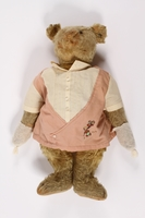 2014.350.2 front Steiff teddy bear used to smuggle valuables out of Vienna  Click to enlarge