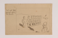 2015.254.7 front Pencil drawing of a soldiers marching in formation  Click to enlarge