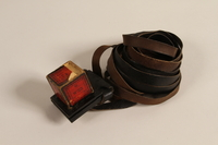 1988.118.1 d-e front Tefillin set found on the body of a concentration camp inmate by a Jewish American soldier  Click to enlarge