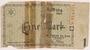 Łódź (Litzmannstadt) ghetto scrip, 1 mark note, found postwar