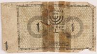 1986.33.1 back Łódź (Litzmannstadt) ghetto scrip, 1 mark note, found postwar  Click to enlarge