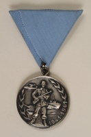 1990.118.16 front Medal for service as a Yugoslav partisan fighter  Click to enlarge