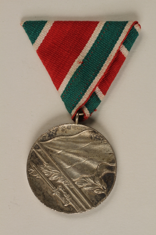1990.118.18 front Medal for service as a Yugoslav partisan fighter