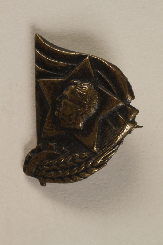 1990.118.20 front Medal awarded for service in the partisan war and other military actions in Tito's army