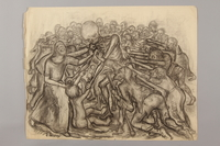 1990.125.11 front Drawing created by a Jewish artist who perished in a concentration camp  Click to enlarge