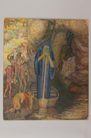 1990.125.13 front Drawing created by a Jewish artist who perished in a concentration camp  Click to enlarge